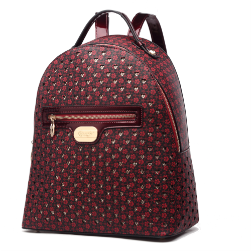 Burgundy Brangio Double Layer Crystal Galaxy Backpack - RLB6638