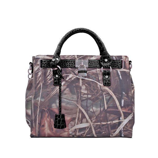 Black 'Real Tree' Satchel Handbag - RT1-500667A MAX4