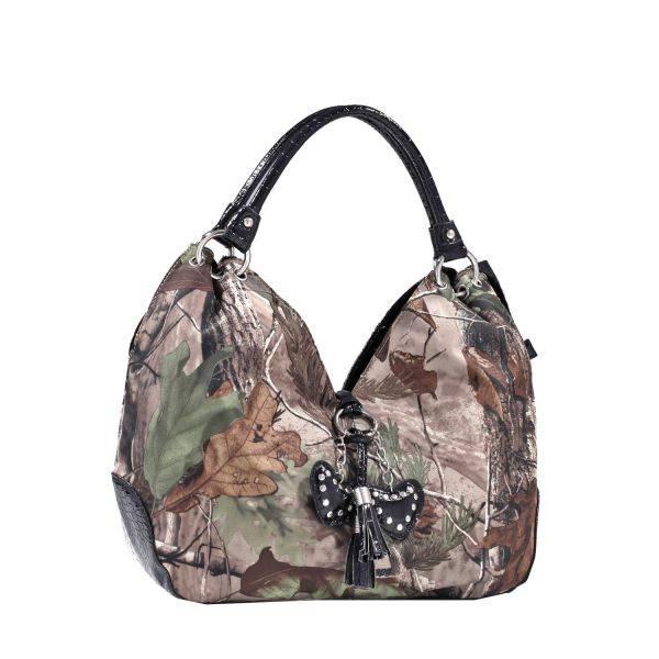 Black 'Real Tree' Hobo Handbag - RT1-500677A APG