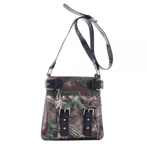 Black Western Realtree Camouflage Messenger Bag - RT1-8535A XG
