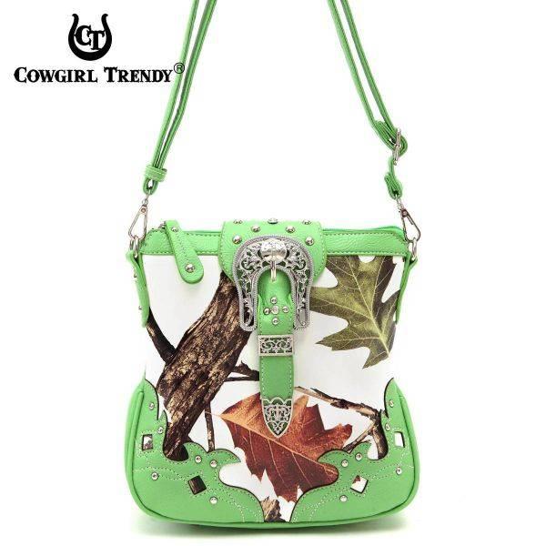 Lime Leaves & Tree Messenger Bag - WML2 200B