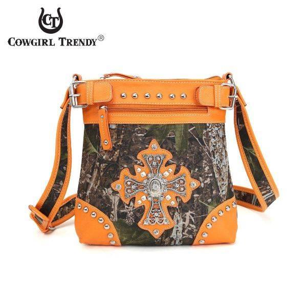 Orange 'Cowgirl Trendy' Western Messenger Bag - FML33 4690C