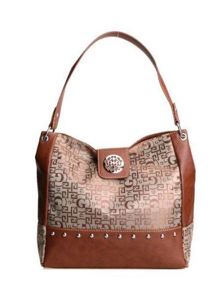 Brown Signature Style Wholesale Tote Handbag - K1535