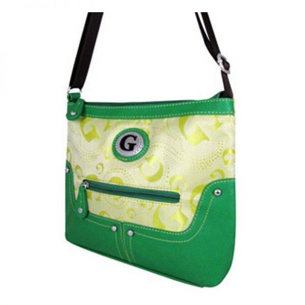 Green G-Style Messenger Bag - KE1338