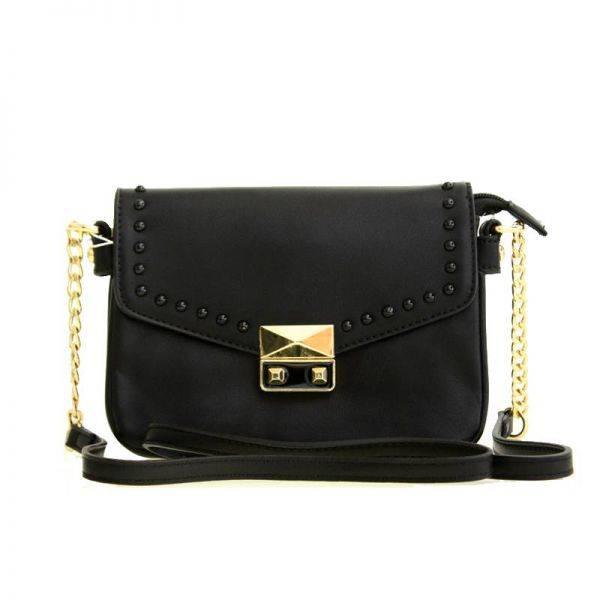 Black Fashion Crossbody Bag - LS0396